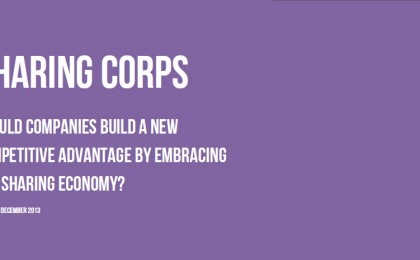 SHARING CORPS: SHOULD COMPANIES EMBRACE THE SHARING ECONOMY?